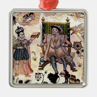 Ornamento de la tapicería del Enrique VIII Adornos De Navidad