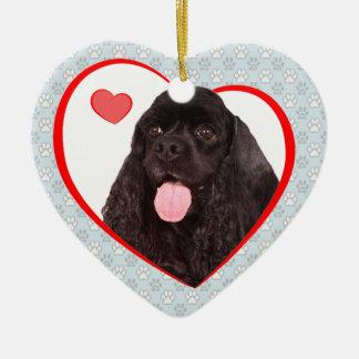 Ornamento de la tarjeta del día de San Valentín de Adorno Navideño De Cerámica En Forma De Corazón