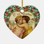 Ornamento de la tarjeta del día de San Valentín de Adorno De Reyes