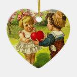 Ornamento de la tarjeta del día de San Valentín de Adorno Para Reyes