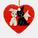 Ornamento de la tarjeta del día de San Valentín de Adornos