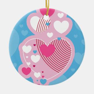 Ornamento de la tarjeta del día de San Valentín Ornamento Para Arbol De Navidad