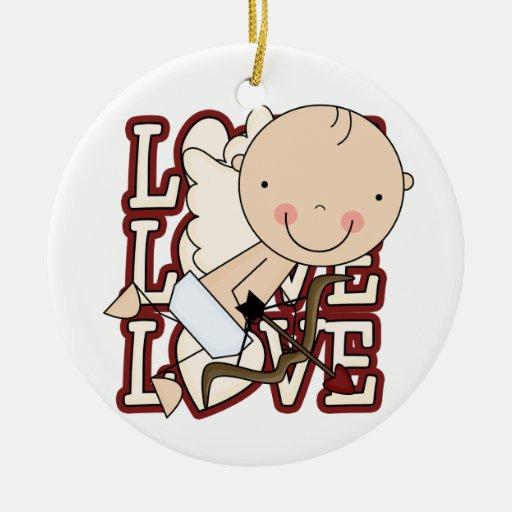 Ornamento de la tarjeta del día de San Valentín Ornamento Para Reyes Magos
