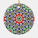 Ornamento de la teja del Moorish Adorno Para Reyes