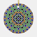 Ornamento de la teja del Moorish Ornamentos De Navidad