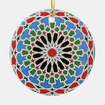 Ornamento de la teja del Moorish Ornamento De Navidad