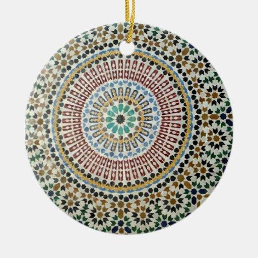 Ornamento de la teja del Moorish Ornamento De Reyes Magos