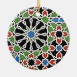 Ornamento de la teja del Moorish Adornos De Navidad