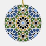 Ornamento de la teja del Moorish Ornamentos Para Reyes Magos
