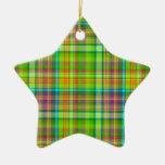 Ornamento de la tela escocesa de Beary Niza Ornamentos De Reyes Magos