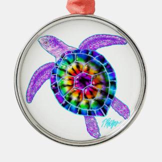 Ornamento de la tortuga de mar del teñido anudado ornamentos de reyes magos