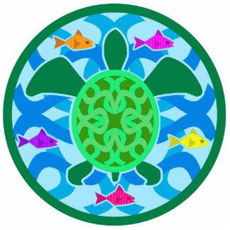 Ornamento de la tortuga de mar verde adorno fotoescultura