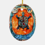 Ornamento de la tortuga de PMACarlson Brother Ornatos
