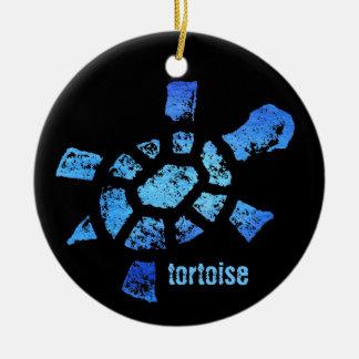Ornamento de la tortuga del agua azul ornamentos de navidad
