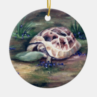 Ornamento de la tortuga del ángel adornos de navidad