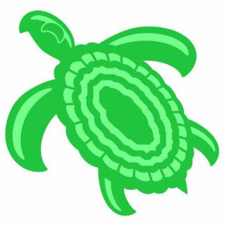 Ornamento de la tortuga verde adorno fotoescultura