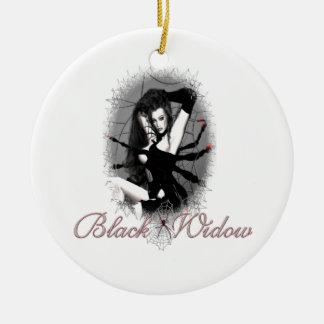 Ornamento de la viuda negra adorno de navidad