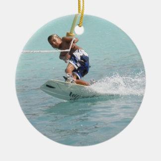 Ornamento de la vuelta de Wakeboarding Adornos