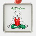 Ornamento de la yoga del navidad ornamentos para reyes magos
