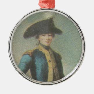 Ornamento de Lafayette Adorno Redondo Plateado