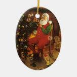 Ornamento de las burbujas de Papá Noel del vintage Ornamento Para Arbol De Navidad