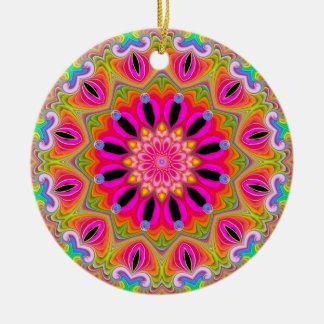 Ornamento de las celebraciones adorno redondo de cerámica