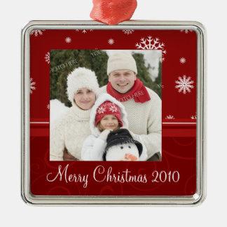 Ornamento de las Felices Navidad 2010 de la foto d Adorno Para Reyes