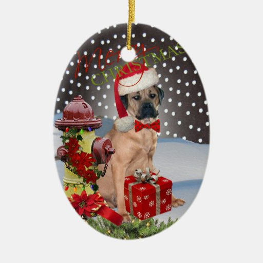 Ornamento de las Felices Navidad de Corso del Adorno Navideño Ovalado De Cerámica