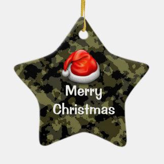 Ornamento de las Felices Navidad de la estrella de Adorno De Navidad