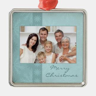 Ornamento de las Felices Navidad de la foto de fam Ornamentos De Reyes