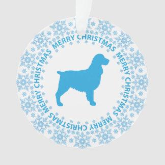 Ornamento de las Felices Navidad del perro de