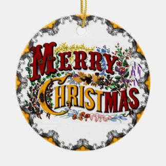 Ornamento de las Felices Navidad del vintage Ornamente De Reyes