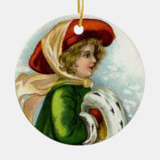 Ornamento de las Felices Navidad del vintage Ornamentos Para Reyes Magos