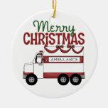 Ornamento de las Felices Navidad EMT Ornamentos De Navidad