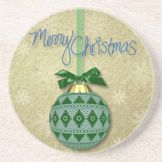 Ornamento de las Felices Navidad Posavasos Manualidades