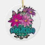 Ornamento de las floraciones del cactus de AZ Adornos