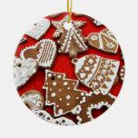 Ornamento de las galletas del pan de jengibre ornamento para arbol de navidad