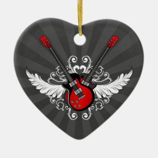 Ornamento de las guitarras del rock-and-roll ornamento para reyes magos