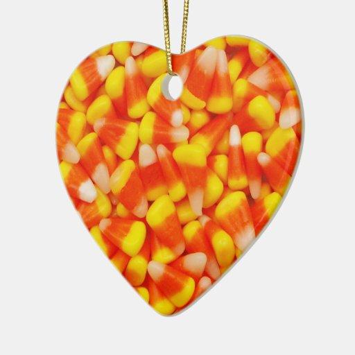Ornamento de las habas de las pastillas de adorno navideño de cerámica en forma de corazón