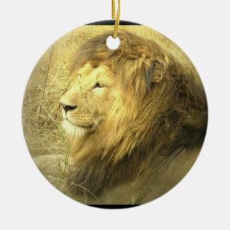 Ornamento de las imágenes del león ornamentos de navidad