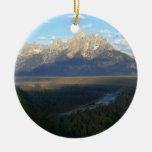 Ornamento de las montañas de Jackson Hole Adorno De Reyes
