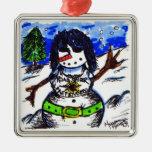Ornamento de las mujeres de la nieve de Chrissie H Ornamentos De Reyes Magos