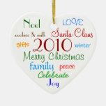 Ornamento de las palabras del navidad adorno de navidad