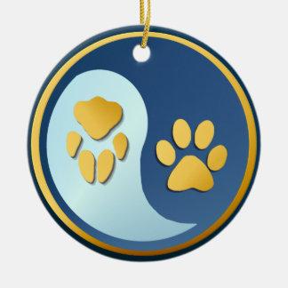 Ornamento de las patas del Gato-Perro de Yin Yang Adorno De Reyes