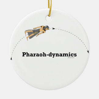 ornamento de las Pharaoh-dinámicas Adorno Navideño Redondo De Cerámica