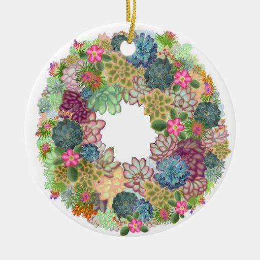 Ornamento de las plantas de jardín de piedras del adorno redondo de cerámica