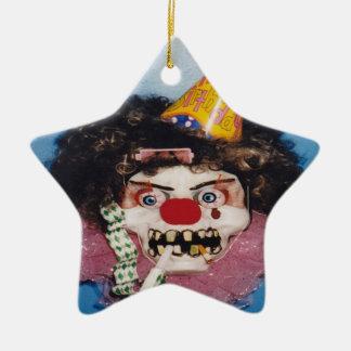 Ornamento de las risas adorno de cerámica en forma de estrella