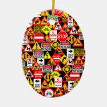 ¡Ornamento de las señales de tráfico - personaliza Adornos De Navidad