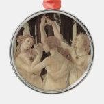 Ornamento de las tolerancias de Botticelli tres Adorno Navideño Redondo De Metal