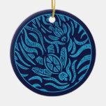 Ornamento de las tortugas de mar de la familia del ornamento para reyes magos